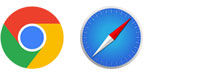 You need latest Chrome and Safari browsers